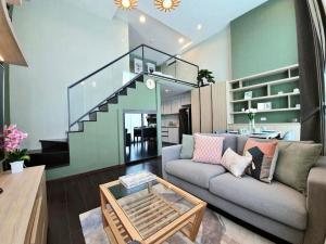 เช่าคอนโดสุขุมวิท อโศก ทองหล่อ : For rent >> C Ekkamai 1 bedroom. Duplex. Corner unit.