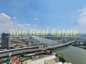 For RentCondoRattanathibet, Sanambinna : Condo for rent, politan rive, 48th floor, corner room, city river view, with window next to, fully furnished, most beautiful position