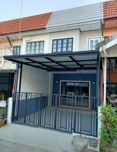 For SaleTownhouseBangbuathong, Sainoi : # Buathong Village 4 Khun Phatra 2 storey townhouse for sale, Ban Kluai Road - Sai Noi.