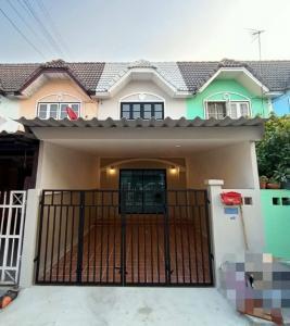 For SaleTownhouseBangbuathong, Sainoi : #Shady village, 2-storey townhouse, renovated with