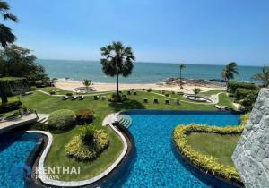 For SaleCondoPattaya, Bangsaen, Chonburi : Condo in Pattaya by the sea Wong Amat beach location, cheap price only 3.59 million baht, sea view room