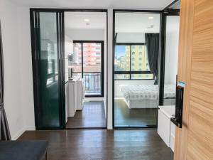 For RentCondoBangna, Lasalle, Bearing : For rent Pause Sukhumvit 103 corner room, 7th floor view, 2 sides with washing machine.