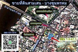 For SaleLandRama 8, Samsen, Ratchawat : Land for sale in Samsen, Bang Khun Phrom