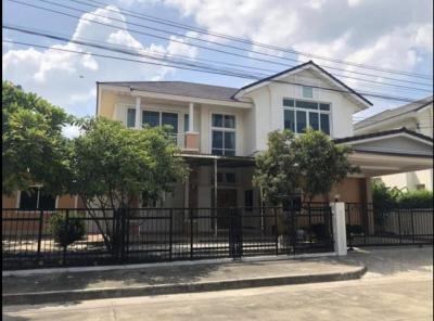 For RentHouseLadkrabang, Suwannaphum Airport : ให้เช่า Perfect Place สุขุมวิท 77บ้านเดี่ยว4 ห้องนอน 4 ห้องน้ำ พร้อมห้องพักแม่บ้านติดวิวสวนน้ำ มีที่วิ่งจ๊อกกิ้ง และ ติดถนน Main
