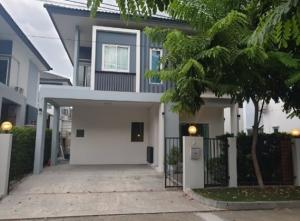For RentHouseNawamin, Ramindra : For Rent 2-storey detached house for rent, Ikon Nature Ramintra 109, very beautiful house, fully furnished with 4 air conditioners, furniture, electrical appliances. Only inhabited Pets are not allowed.