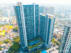 For SaleCondoOnnut, Udomsuk : Urgent sale, The Base Sukhumvit 77 Condo, high floor, southeast, fully furnished (CM18-09).