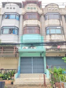For SaleShophouseLadkrabang, Suwannaphum Airport : Commercial building 4.5 floors 16 sq. Wah M. Rungkit Villa 7 Romklao 42