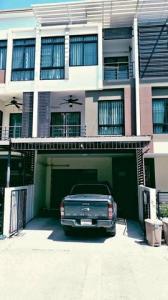 For RentTownhouseEakachai, Bang Bon : RTJ702 3-storey townhome for rent, Signature Ekachai Village, Bang Bon.