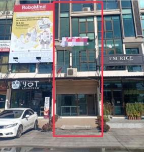 For RentShophouseRamkhamhaeng, Hua Mak : NS 048 4-storey commercial building for rent on the main road Sukhaphiban 3 Ramkhamhaeng