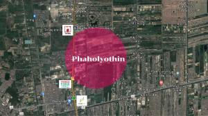 For SaleLandRangsit, Patumtani : Land for sale 20 rai, beautiful plot, next to Phaholyothin Road, width 60 m.
