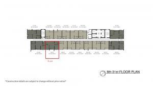 ขายคอนโดพระราม 3 สาธุประดิษฐ์ : ขาย The Key พระราม 3 ตำแหน่ง A09  วิวทิศตะวันออก. ขนาด2 ห้องนอน1  ห้องน้ำ
