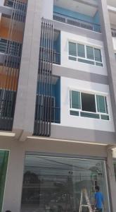 For RentShophouseChengwatana, Muangthong : RPJ170 4-storey commercial building for rent on Tiwanon Road, Pak Kret, near Amphon Phaisan School.
