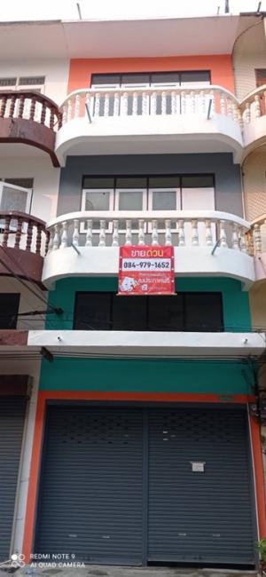 For SaleShophouseBangbuathong, Sainoi : ขายด่วน ‼️ อาคารพาณิชย์ 4ชั้น ใกล้ตลาดบางบัวทอง ห้องที่6 จากริมถนน ค้าขายได้ ใกล้รถไฟฟ้าสายสีม่วง #สถานีบางพลู