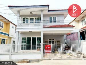 For SaleHouseSamrong, Samut Prakan : Twin house for sale, Thasarin Village, Thepharak, Samut Prakan, beautiful, ready to move in.