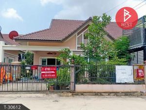 For SaleHousePattaya, Bangsaen, Chonburi : Sell twin houses, Believe Home Sport Village (B Leaf Home Sport Village), Sriracha, Chonburi.