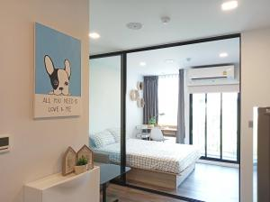 For RentCondoRatchadapisek, Huaikwang, Suttisan : For rent, Condo Atmoz Ratchada-Huaykwang, room type 1 bedroom, 1 bathroom, area 24.5 sq.m.