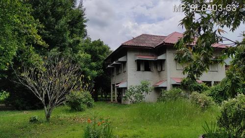 For SaleLandNakhon Nayok : Nakhon Nayok land and buildings for sale, size 9 rai, Wang Krachom house Rangsit-Nakhon Nayok Next to Nakhon Nayok River