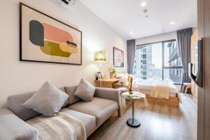 "For RentCondoRama9, RCA, Petchaburi : 🔥 For rent ""Ideo Mobi Asoke"", real room, very beautiful, good price."
