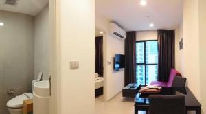 For RentCondoRama9, RCA, Petchaburi : Condo for rent: Rhythm Asoke2 (Rhythm Asoke 2), near MRT Rama 9, fully furnished, with washing machine, 24th floor.