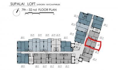 ขายดาวน์คอนโดท่าพระ ตลาดพลู : !!!THE BEST LAYOUT!!!! ตำแหน่งดีที่สุดในตึก ครัวปิด ทิศตะวันออก ตำแหน่งสวย (จองรอบออนไลน์ ราคาดีที่สุด)