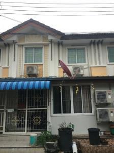 For SaleHouseRamkhamhaeng,Min Buri, Romklao : Townhouse for rent Pruksa Ville Village 5, Pracha Ruamchai Road Minburi-Nimitmai, 2 floors, 3 bedrooms, 2 bathrooms