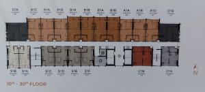 ขายดาวน์คอนโดรังสิต ธรรมศาสตร์ ปทุม : ขายดาวน์ studio ชั้น 30 บวกน้อยมาก ส่วนลด 280,000