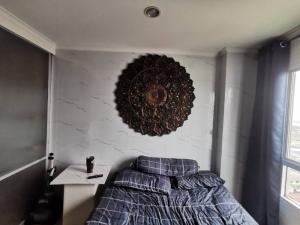 For RentCondoRama 8, Samsen, Ratchawat : Cheap and best rent, very nice view, new washing machine !! Condo Lumpini Place Rama 8, Chao Phraya River view, Building C, floor 12A (top floor), for rent only 8,500.