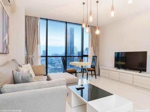For RentCondoSukhumvit, Asoke, Thonglor : For rent: Movenpick Residences Ekkamai [Movenpick Residences Ekkamai. Beautiful room, fully furnished. Ready to move in immediately