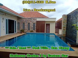 For RentHouseRayong : Sinthavee Garden 2 Pool Villa Ban Chang Sale / Rent Rental Fee 40,000 Baht Sales Price 5.5 MB