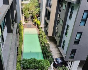 For SaleCondoOnnut, Udomsuk : Reduced to only 1.75 million baht. B-Republic Sukhumvit 101/1 Condo near BTS Punnawithi, area 25 sq.m., 5th floor **pool view** Free transfer fee + free common fee for 1 year