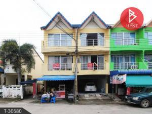 For SaleShophousePattaya, Bangsaen, Chonburi : Sales of commercial buildings behind the demonstration village, City Home Bo Win opposite Lotus Bowin.
