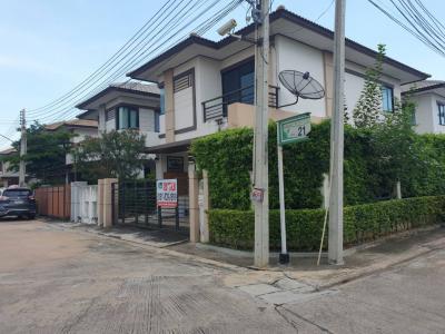 For SaleHousePattaya, Bangsaen, Chonburi : Twin house for sale, detached house style Ban Fah Greenery Pattaya North (Ban Fah Greenery) Pattaya Chonburi