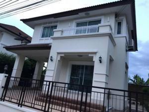 For SaleHouseRattanathibet, Sanambinna : AE64126 2 storey house for sale, The Centro Rattanathibet, area 52.90 sq m, 3 bedrooms, 2 bathrooms, built-in kitchen