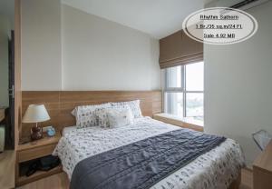For SaleCondoSathorn, Narathiwat : For Sale - Rhythm Sathorn / 1 bedroom / 35 sq.m. / Floor 24 near BTS Saphan Taksin / Sale 4.92 million