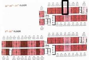 Sale DownCondoRamkhamhaeng,Min Buri, Romklao : 🌟 Sale down 🌟 The Origin Ram 209, high floor, less unit, add privacy 25.5 sq.m.