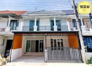 For SaleTownhouseBangbuathong, Sainoi : 🔰 Village Bua Thong 4 has a balcony, beautiful decoration, new throughout the back
