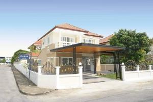 For SaleHouseBangbuathong, Sainoi : Single detached houses, corner plot Patcharaphan Bang Bua Thong Village