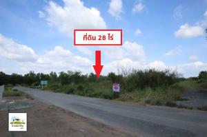 For SaleLandRangsit, Patumtani : Quick sale! 28 rai of land, Khlong 15, near the tree market. Nakhon Nayok Rural Road 3026