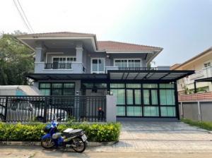 For SaleHouseRamkhamhaeng,Min Buri, Romklao : 2 storey detached house for sale, Preecha Village, Rom Klao Soi 1