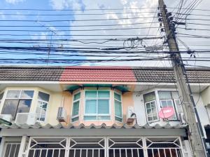 For SaleTownhouseRatchadapisek, Huaikwang, Suttisan : 2449-A😍 For SELL 2 storey, 2 bedroom townhouse for sale 🚄 near Huai Khwang MRT 🏢 Pracharat Bamphen 🔔 House area: 17.50 sq.wa 🔔 Usable area: 140.00 sq m. 💲 Sale: 3,400,000 ฿ 📞O99- 5919653✅LineID: @sureresidence