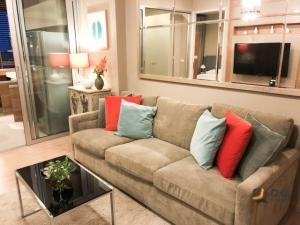 For RentCondoOnnut, Udomsuk : For Rent Rhythm Sukhumvit 50  1Bed , size 45 sq.m., Beautiful room, fully furnished.