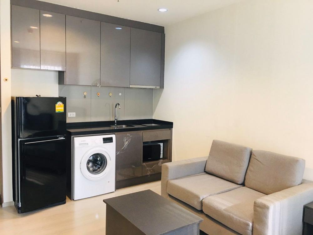 For RentCondoRama9, RCA, Petchaburi : For rent, Rhythm Asoke, beautiful room, fully furnished, near MRT Rama 9
