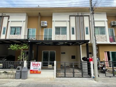 For RentTownhouseRama5, Ratchapruek, Bangkruai : Townhome for rent, 2-storey townhouse, Pleno (Pleno), Ratchapruek - Rama 5 Bang Kruai-Sai Noi Road