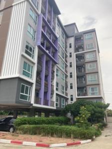 For SaleCondoRattanathibet, Sanambinna : Low Rise Condo, size 29.65 sq.m., 4th floor, corner room, near the Purple Line BTS