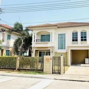 For RentHouseLadkrabang, Suwannaphum Airport : BN73 2-storey detached house for rent, Passorn Prestige On Nut Project, Chaloem Phra Kiat Rama 9 Road, Soi 87.