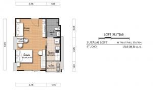 For SaleCondoThaphra, Wutthakat : FOR Sale -Rent Supalai Loft Talatphlu Floor.32