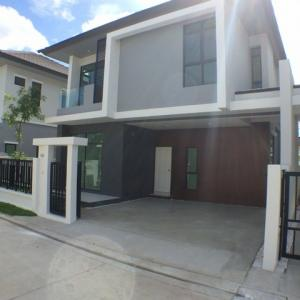 For RentHouseRamkhamhaeng Nida, Seri Thai : HR732 House for rent, area 35 sq m., Aura Village, Ramkhamhaeng 94, fully furnished.
