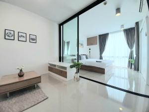 For SaleCondoRamkhamhaeng Nida, Seri Thai : Urgent sale Dcondo Ramkhamhaeng 64, Building B, 4th floor, corner room