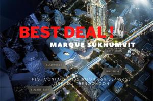 For SaleCondoSukhumvit, Asoke, Thonglor : ✨ BEST DEAL ✨ Unit For Sell Ultimate Class Condo Marque 2bed (s) Pls. Contact Miss Noon 0645542655
