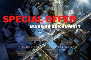 ขายคอนโดสุขุมวิท อโศก ทองหล่อ : ✨ SPECIAL OFFER ✨ Unit For Sell Ultimate Class Condo Marque 3bed(s) Pls. Contact Miss Noon 0645542655